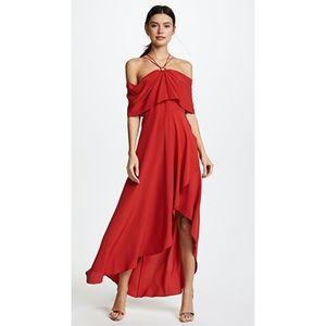 Yigal Azrouel Silk Cold Shoulder Cocktail Dress